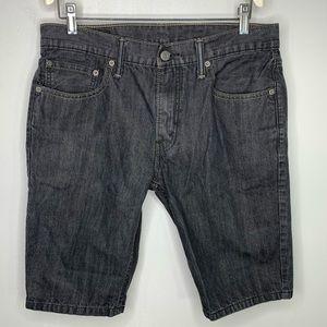 Levi's 511 33 Waist Black Denim Above Knee Shorts